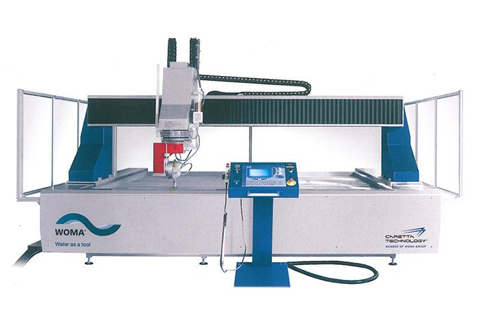 3D-Wasserstrahlschneidanlage WOMA Modula Solid 5